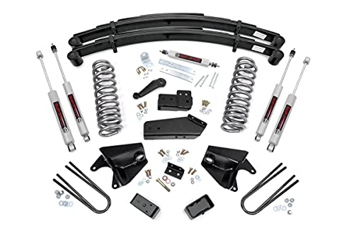 """Rough Country 6"""" Lift Kit (fits) 1980-1996 F150 Bronco 4WD N3 Steering Stabilizer and Shocks Suspension System 525.20"""