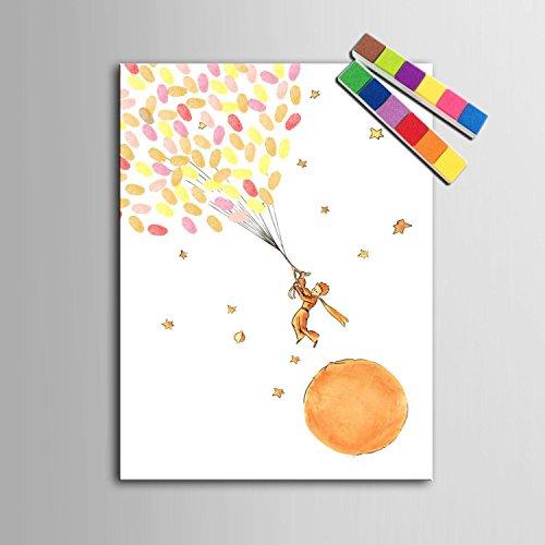 Impresiones de huellas digitales personalizados pintura lienzo - Principito (incluye 12 tinta FColors) , blank , 60*80cm