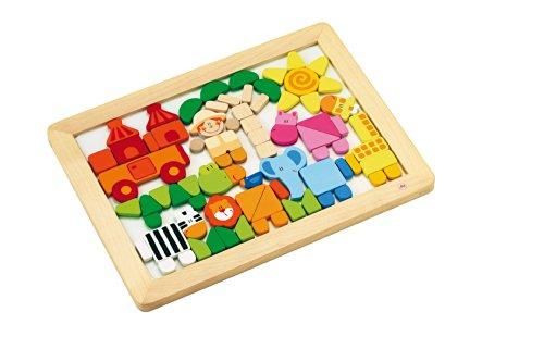Sevi - 81860 - Puzzle en Bois - Puzzle Magnétique Savane