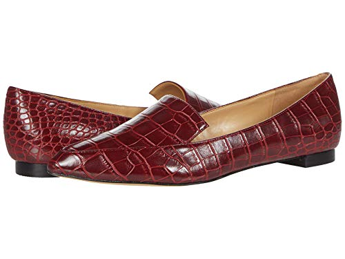 NINE WEST Women's WNABAY3 Loafer, Red 1, 9