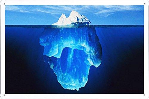 Planet Scene Poster - Glacier Iceberg Under Water 14926 Tin Sign (8'x12')