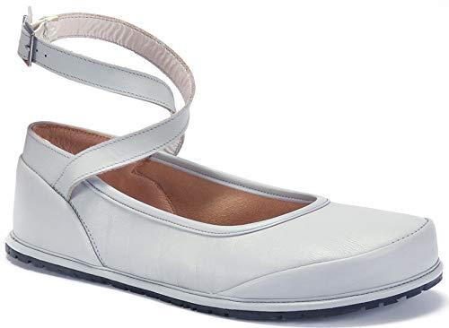Magical Shoes - Anna - Ballerinas | Barfußschuhe | Damen | Zero Drop | Flexibel | Rutschfest | Natur-Leder, Größe:40 / 256mm, Farbe:Ballerina Anna - Pastellblau