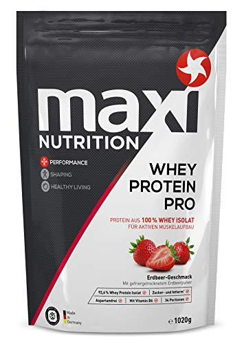 MaxiNutrition Whey Protein Isolate - Erdbeere, 1 x 1020 g
