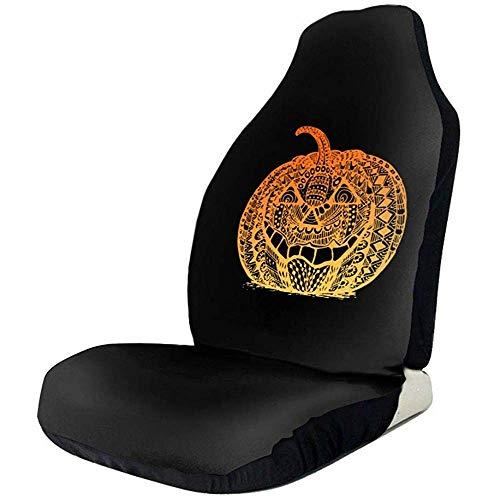Preisvergleich Produktbild Sobre-mesa Halloween Zentangle Kürbis Bunte Mode Zeichen Auto Sitzbezüge Full Set von 1,  Durable Universal Fit die meisten Auto,  LKW,  Geländewagen oder Van