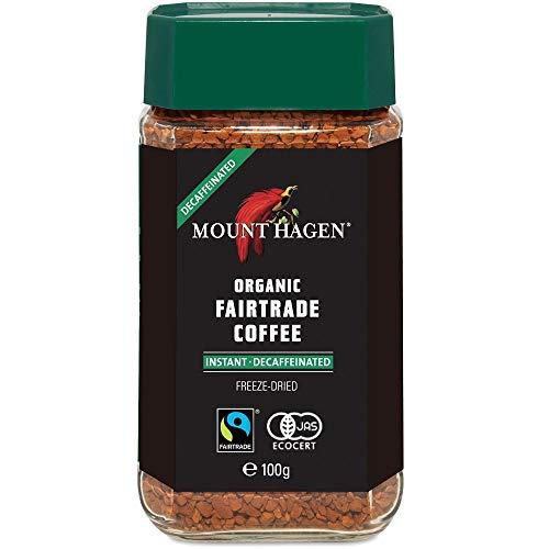 マウントハーゲン オーガニック フェアトレード カフェインレスインスタントコーヒー100g インスタント(瓶・詰替)-2 パック QT%D