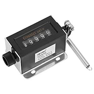 Mechanical Counter, D67F 5 Digit 0-99999 Mechanical Resettable Manual Hand Pull Stroke Tally Counter for Press and Printing Press, Auto Digital Counter