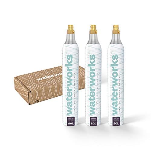 waterworks 3 x White CO2-Zylinder I Geeignet für Quooker Wassersprudler I Für bis zu 60 L pro Füllung I Kostenfreier Rückversand bei Zylindertausch