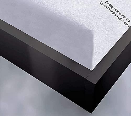 Softness Protège Matelas Alèse Imperméable 100% Coton Grands Bonnets 30 cm Matelas Épais Fabrication Européenne Qualité Supérieure (140x190)