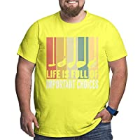 Life Is Full Of Important Choices Men'S Graphic Cotton Short Sleeve T-Shirt Yellow 4XL