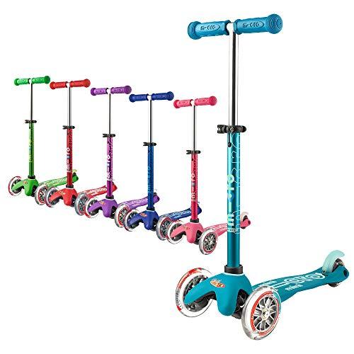 Micro Mobility - Trottinette Mini Deluxe Aqua - Trottinette Enfant au Design Original - Apprentissage de l'équilibre en Douceur - De 2 à 5 Ans - Aqua