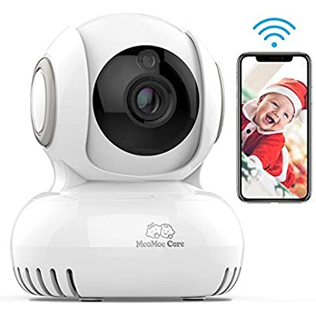 Baby Monitor 1080P FHD Video Baby Monitor with Camera Night Vision and Motion Detection Two Way Talk Wireless WiFi Surveillance Security Camera with Pan and Tilt for Home and Business Pet Camera