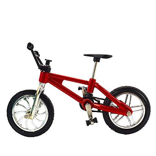 Mini Finger Bikes, Miniature Finger Mountain Bike, Functional Finger Mountain Bike, Novelty Toys Game, Creative Game Gift Toy(red BMX Bike)