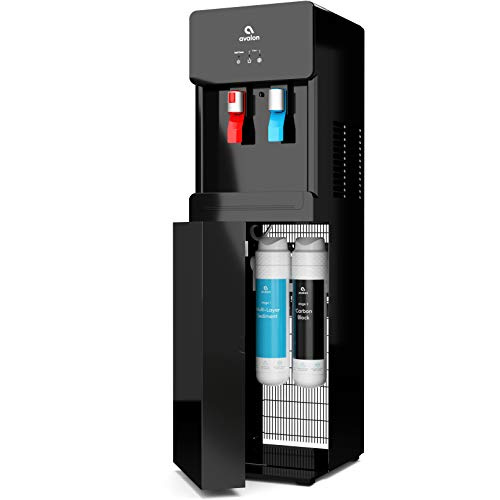 Avalon A7BOTTLELESSBLK Self Cleaning Touchless Bottleless Cooler Dispenser-Hot & Cold Water Child Safety Lock, UL/Energy Star, Black