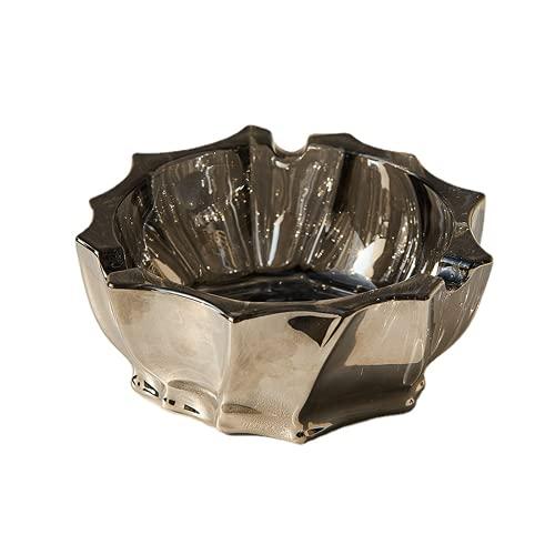 Cenicero de cristal portátil decorativo Somking bandeja de cigarros cenicero titular malezas Accesorios hogar sala decoración