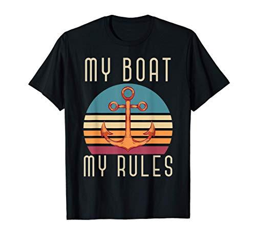 Barco De Vela Náutico Ancla Mi Barco Mis Reglas Velero Camiseta