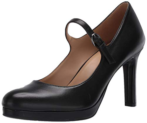 Naturalizer Women's Talissa Mary Janes Pump, Black Leather,10.5 M US