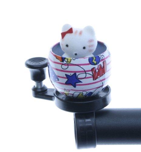 Klingel Katze in Tasse Kinderklingel Glocke