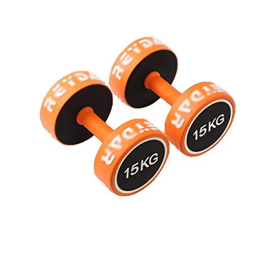 Mancuerna Pesas de Caucho Hex Pesas Peso de la Mano con Mangos de Goma Pesada Pesa de Gimnasia Conjunto de Entrenamiento Muscular Ejercicios (Peso : 30Kg(15Kg*2))