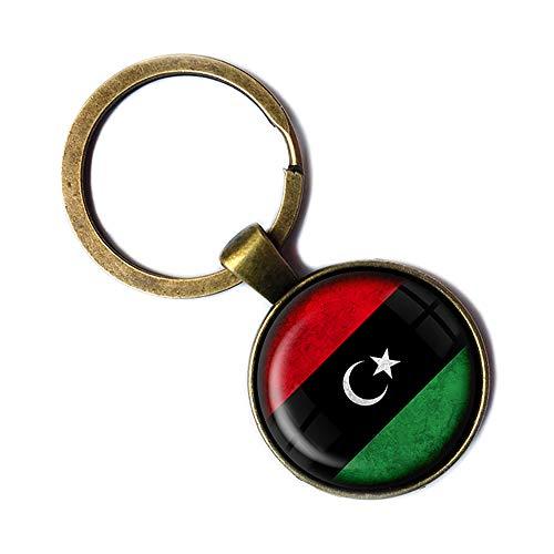 Libya Libyan Flag Libysche Libysche Flagge Keychain Bronze Schlüsselanhänger