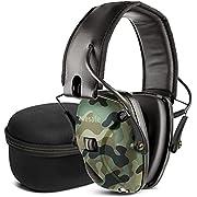 Elektronischer Schieß-Ohrenschützer mit Hard Travel Aufbewahrungstasche, Awesafe GF01+ Lärmminderung Klangverstärkung Elektronischer Gehörschutz, Gehörschutz, NRR 22 dB, Ideal zum Schießen und Jagen