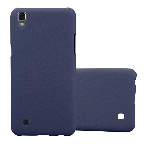 Cadorabo Funda para LG X Power en Frosty Azul - Cubierta Protección de Plástico Duro Super Delgada e Inflexible con Antichoque - Case Cover Carcasa Protectora Ligera