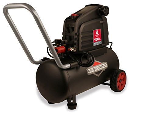 Briggs & Stratton 8-Gallon Air Compressor, Hotdog...