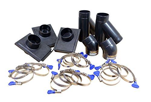 Powertec 702002–1/5,1cm three-machine Dust Collection kit