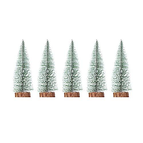 NUOBESTY 5 stücke künstliche Mini weihnachtsbäume Tanne Mini sisal Frost Schnee Miniatur weihnachtsbäume (20 cm)