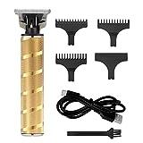 Surker Tondeuse Cheveux Pour Hommes Tondeuse Barbe Electrique Accessoires de coiddeur Etanche Rechargeable Professionnelle (d'or)
