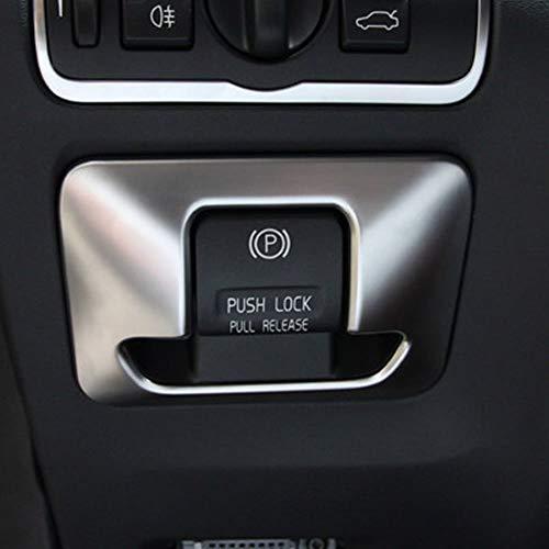 ABS en Plastique Électronique Frein À Main Bouton Couvre Garniture Autocollants Accessoires De Voiture Argent Mat pour XC60 XC70 S60 V60 S80