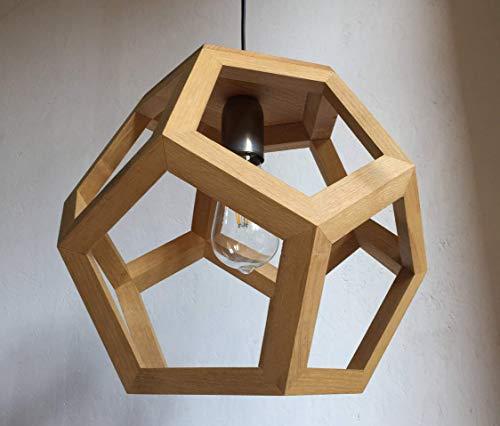 ALBIORIX, Heilige Lampe, Universum, Pendelleuchte, Leuchte, Holzlampe, Wohnzimmerbeleuchtung, Schlafzimmerleuchte, Foyerlampe, Küche, Dodekaeder, platonischer Körper