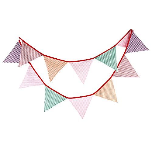Multicolor Banderines , decoraciones de fiesta pastel para una decoración perfecta para baby shower y fiestas de cumpleaños 10.5 pies