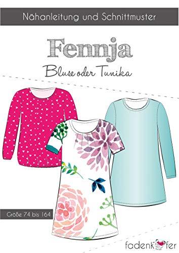 Schnittmuster und Nähanleitung - Kinder Bluse Tunika - Fennja