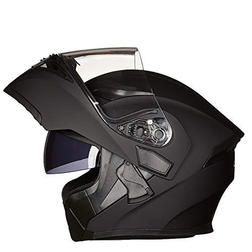 フリップアップヘルメット ヘルメット バイク用 バイクヘルメット システムヘルメット フルフェイス ジェット 男女兼用 春 夏 秋 冬 PSC付き AN-12[商品01/XXL]