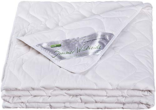 moebelfrank - Sommerdecke 100x135 Sommer Wild-Seide Kinder-Bettdecke Baumwolle