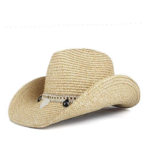 Sombrero para el Sol Mujeres Viaje Playa Mujer Marca Británica Jazz Sombreros Verano Moda Señoras Sombrero de Vaquero Bola Decorar Paja Sombreros de Verano para Sombreros de Sol de Las Mujeres