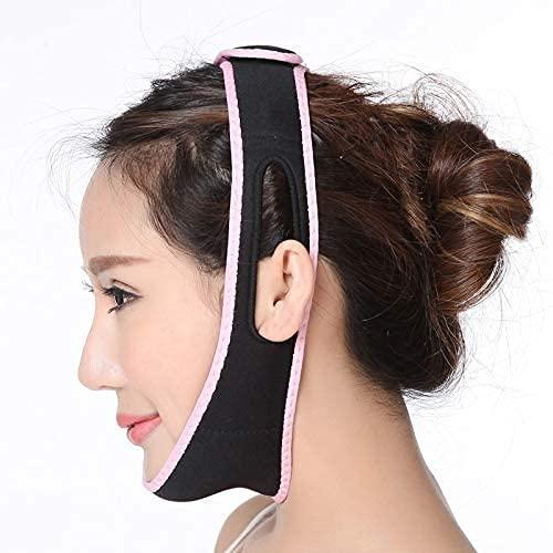 LXNQG Facial Bandagebreable V Face Cheek Lift Up Band Face Reduce Double Chin V-Line Vendaje Anti Arrugas Face Vendaje Negro (Color : Black)