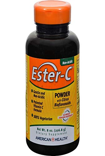 American Health Ester-C Powder with Citrus Bioflavonoids - Gentle On Stomach, Non-Acidic Vitamin C - 750 mg, 8 oz, 83 Servings
