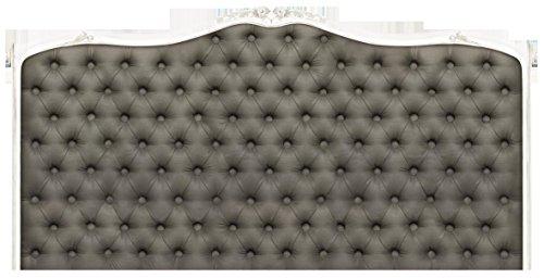 Plage Clásico Cabecero de Cama Adhesivo, Tela, Gris, 160x3x60 cm