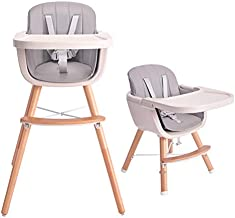 Tiny Dreny Convertible Baby Chair with Cushion | High Chair for Babies and Toddlers | 3-in-1 Baby High Chair Grows up with Family | Highchair with Adjustable Footrest and Tray | Easy Assembly