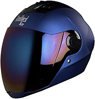 Steelbird Air Sba,2 Supreme Full Face Men's Helmet, Free Transparent Visor For Night Vision (Yamaha Blue, Large)