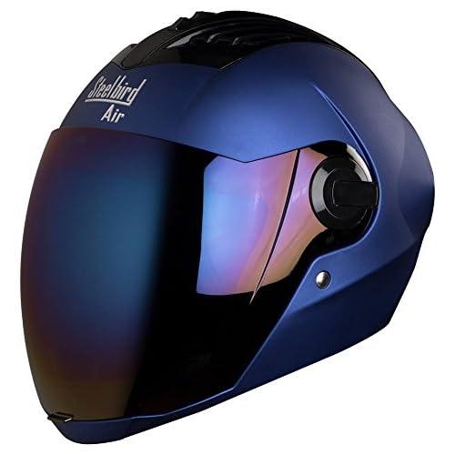 Steelbird Air Sba,2 Supreme Full Face Men's Helmet, Free Transparent Visor For Night Vision (Yamaha Blue, Large)