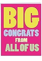 "p3893ジャンボFunnyカード: Big CongratsからUS with Envelope ( Extra Largeバージョン: 8.5"" X 11"" ) 1 Jumbo Valentine's Day Card & Enve. (J2148VDG)"