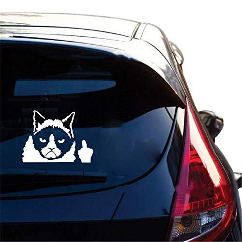 Auto Aufkleber Katze Katzenklauen-Nagel-Mittelfinger, der weg von den lustigen Auto-Aufkleber-Automobilen für Auto-Laptop-Fenster-Aufkleber leicht schlägt