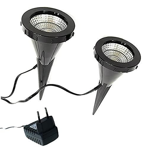Dapo® 2x LED-Pflanzen-Strahler JASMIN Handschalter LED-Spot-Blumen-Zimmerpflanzen-Blumenkübel-Blumentopf-Spotlight Dekorations-Stimmungs-indirekter-Spot