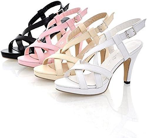 HOESCZS High Heels Sommerband Schnalle High Heel Dick Mit Damen Schuhe Sandalen Größe Größe 40 43