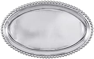 Mariposa 639 Pearled large oval platter, One Size, Silver