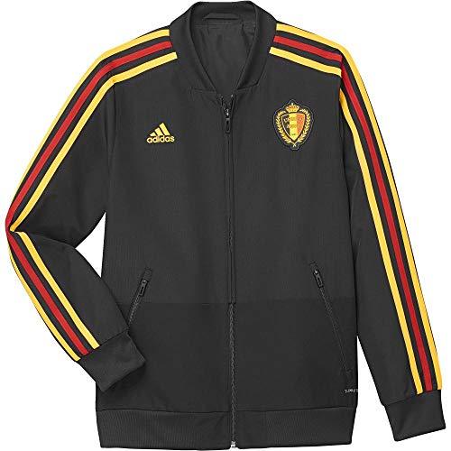 adidas Kinder Präsentationsjacke Belgien Jacke, Black/Bogold, 140