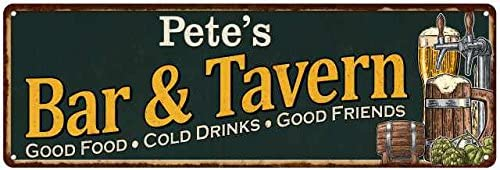 Pete's Bar and Outlet ☆ Free Shipping Tavern service Sign Signs Pub Garage Beer Decor