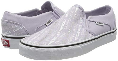 Vans Asher, Scarpe da Ginnastica da Infilare Donna, Blu ((Logo Repeat) Lavender Blue/White XWQ), 37 EU